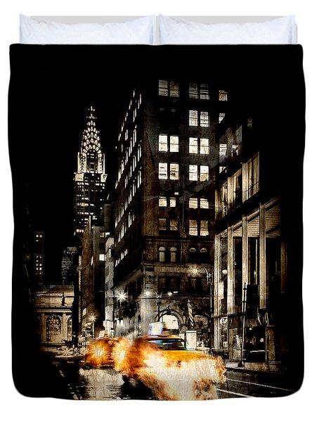 City Streets  Duvet Cover by Az Jackson
