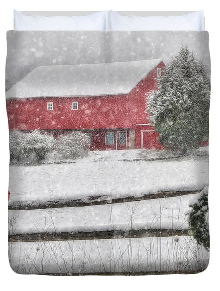 Clarks Valley Christmas 2 Duvet Cover by Lori Deiter