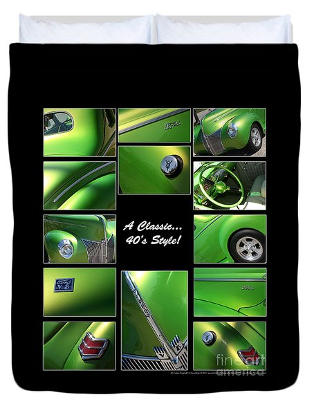 Classic 40s Style - Poster Duvet Cover by Gary Gingrich Galleries