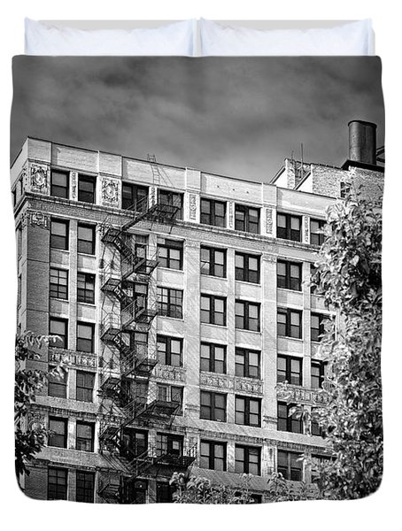 Classic iron fire escape Chicago IL Duvet Cover by Christine Till