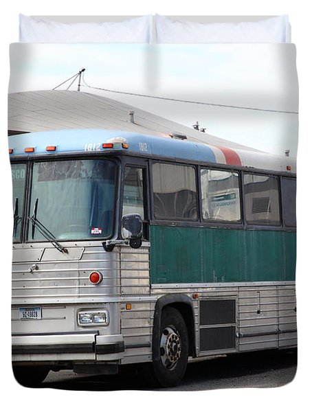 Classic Retro Greyhound Bus 5d25251 Duvet Cover by Wingsdomain Art and Photography