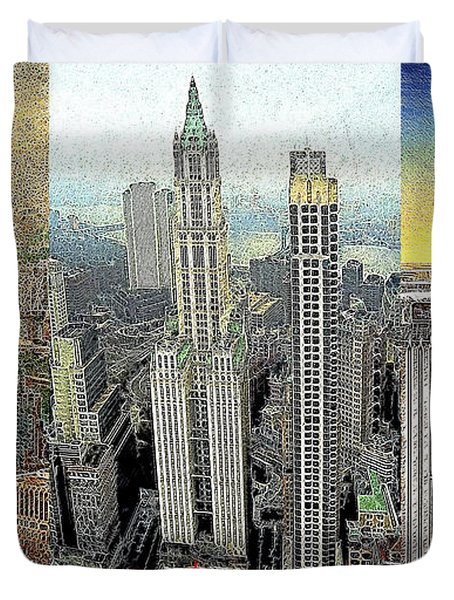 Classic Skyscrapers of America 20130428 Duvet Cover by Wingsdomain Art and Photography