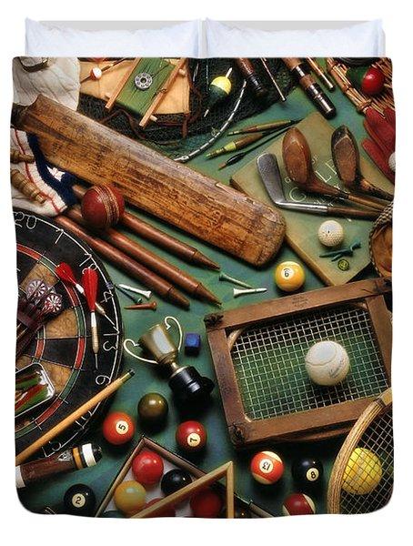Classic Sports Gear Duvet Cover by Simon Kayne