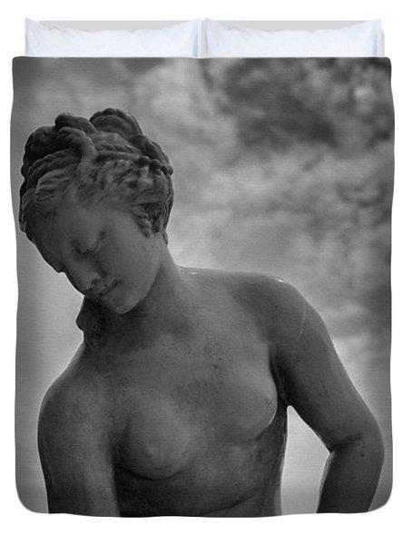 classic woman statue Duvet Cover by Setsiri Silapasuwanchai