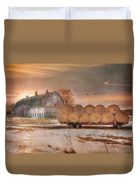 Clayton Sunset Duvet Cover by Lori Deiter