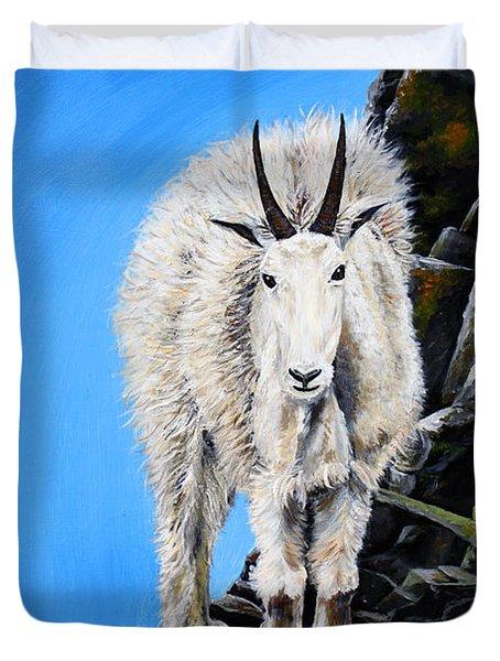 Cliffhanger Duvet Cover by Teshia Art