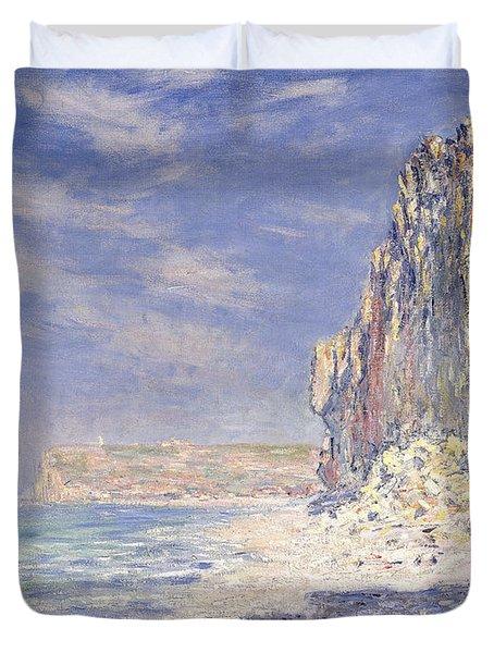 Cliffs Near Fecamp Duvet Cover by Claude Monet