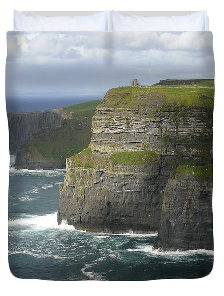 Cliffs of Moher 2 Duvet Cover by Mike McGlothlen