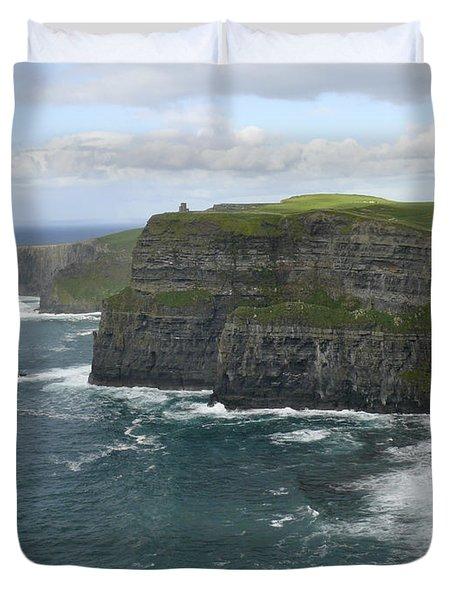 Cliffs Of Moher 3 Duvet Cover by Mike McGlothlen