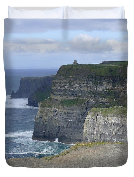 Cliffs Of Moher 4 Duvet Cover by Mike McGlothlen