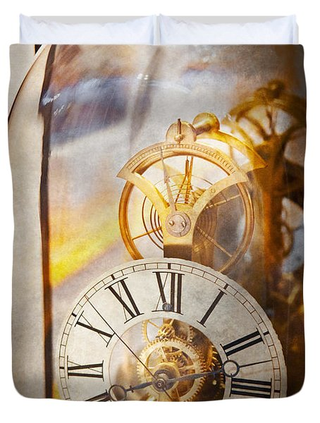 Clockmaker - A look back in time Duvet Cover by Mike Savad