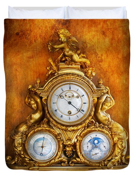 Clockmaker - Anyone have the time Duvet Cover by Mike Savad