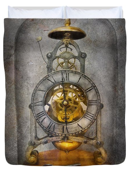 Clocksmith - The Time Capsule Duvet Cover by Mike Savad