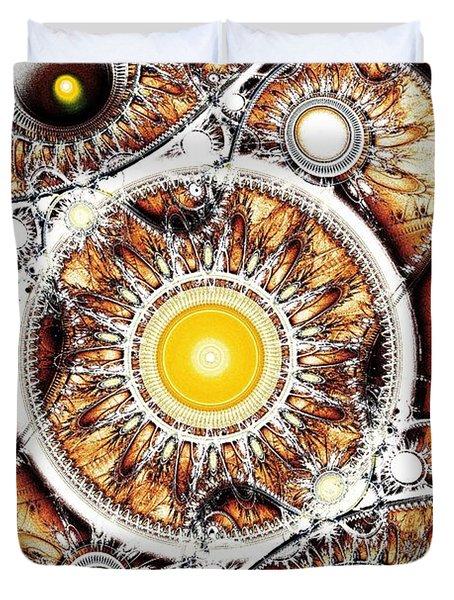 Clockwork Duvet Cover by Anastasiya Malakhova