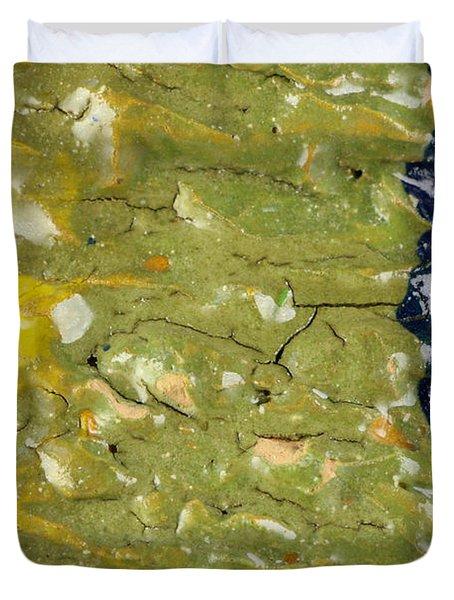 Closeup Of Glazed Ceramics Duvet Cover by Kerstin Ivarsson