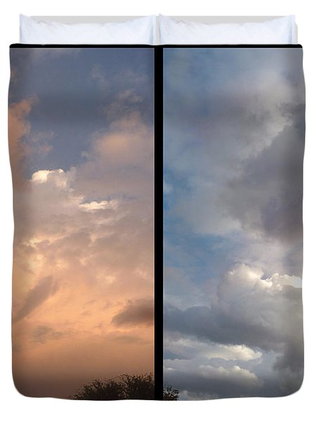 Cloud Diptych Duvet Cover by James W Johnson