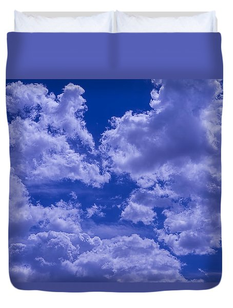 Cloud Watching Duvet Cover by Garry Gay