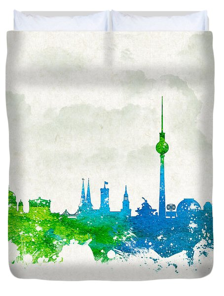 Clouds Over Berlin Germany Duvet Cover by Aged Pixel