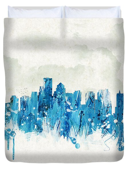Clouds Over Boston Massachusetts Usa Duvet Cover by Aged Pixel