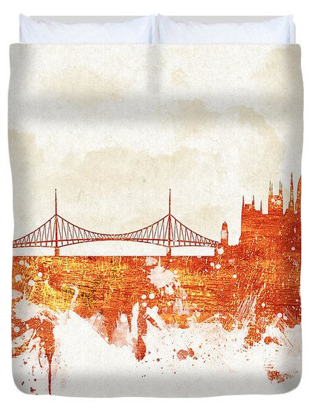 Clouds Over Budapest Hungary Duvet Cover by Aged Pixel