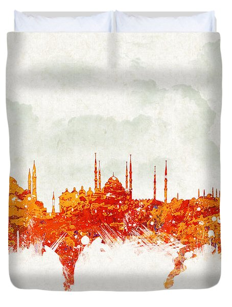 Clouds Over Istanbul Turkey Duvet Cover by Aged Pixel