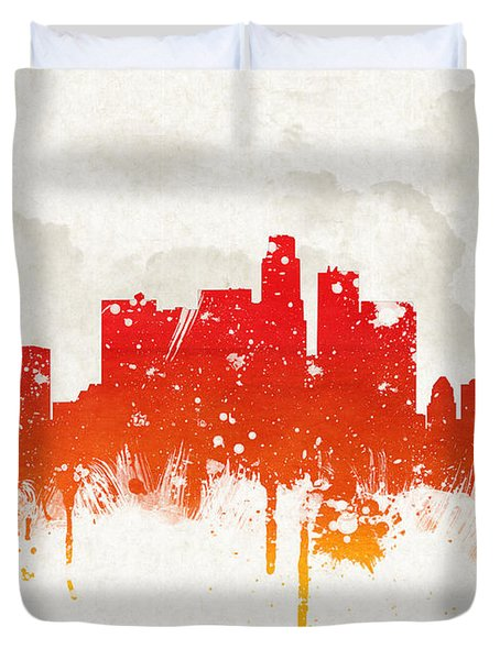 Clouds Over Los Angeles California Duvet Cover by Aged Pixel