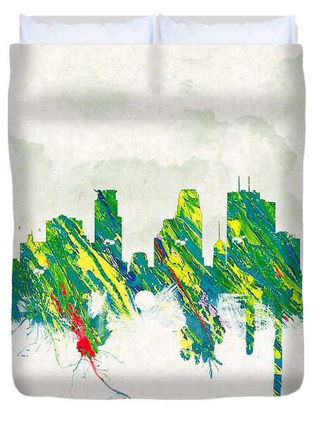 Clouds Over Minneapolis Minnesota USA Duvet Cover by Aged Pixel