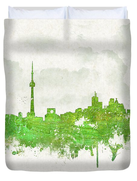 Clouds Over Toronto Canada Duvet Cover by Aged Pixel