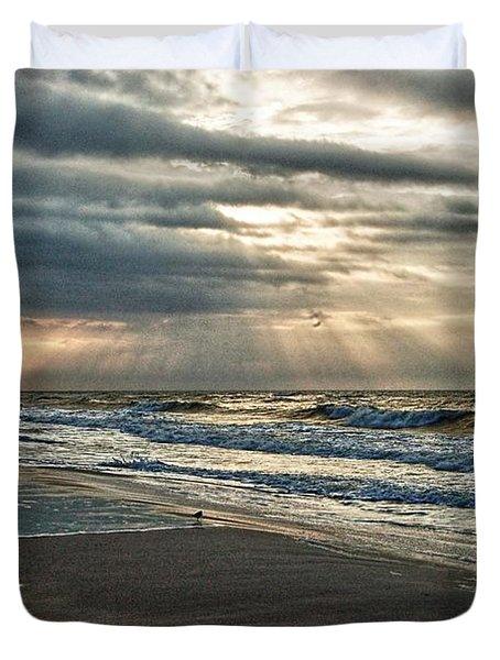 Cloudy Sunrise Duvet Cover by Michael Thomas