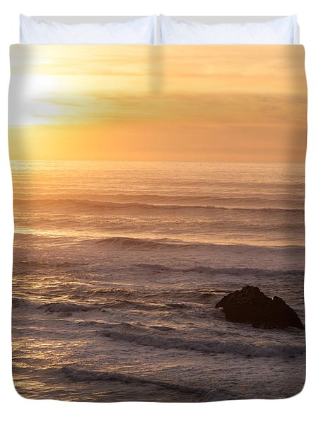 Coastal Rhythm Duvet Cover by Mike Reid