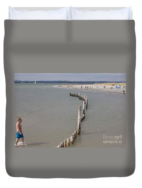 Coastal Vision Duvet Cover by Hugh Reynolds