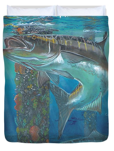 Cobia Strike In0024 Duvet Cover by Carey Chen