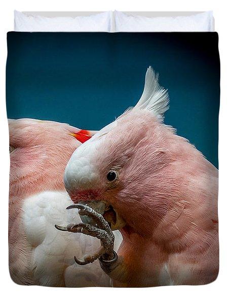 Cockatoos Duvet Cover by Ernie Echols