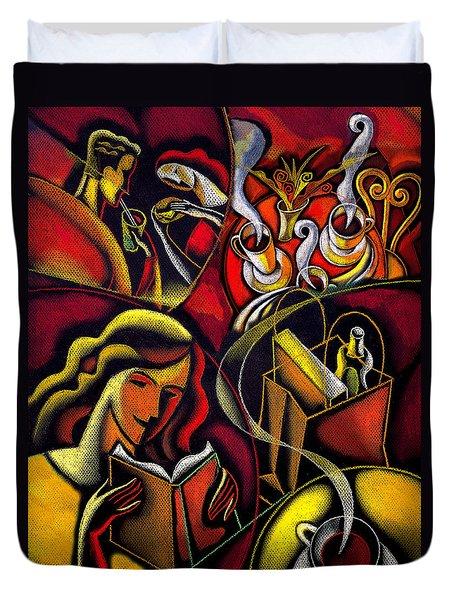 Coffee Break Duvet Cover by Leon Zernitsky