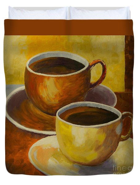 Coffee Time Duvet Cover by Veikko Suikkanen