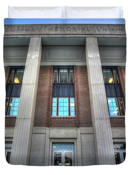 Coffman Memorial Union Duvet Cover by Amanda Stadther
