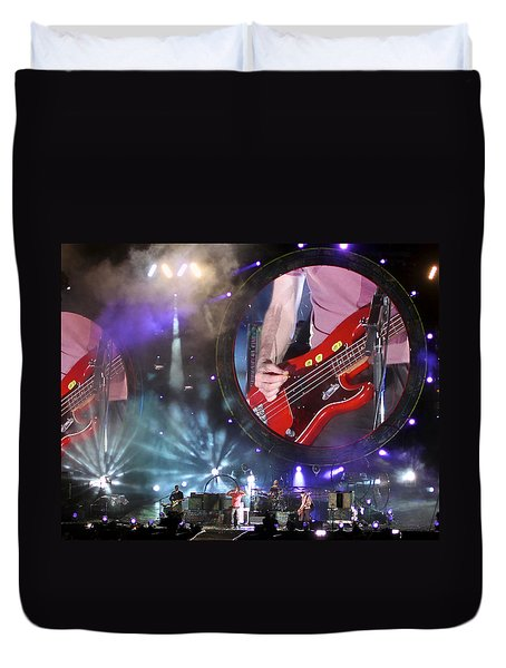 Coldplay - Sydney 2012 Duvet Cover by Chris Cousins