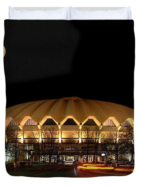 Coliseum Night With Full Moon Duvet Cover by Dan Friend
