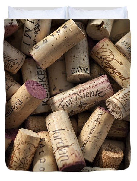 Collection Of Fine Wine Corks Duvet Cover by Adam Romanowicz
