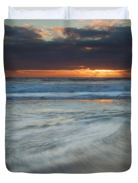 Colliding Tides Duvet Cover by Mike  Dawson