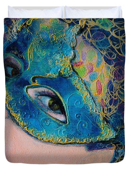 Colombina's Sight Duvet Cover by Dorina  Costras