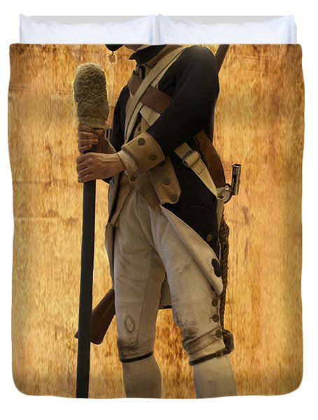 Colonial Soldier Duvet Cover by Thomas Woolworth