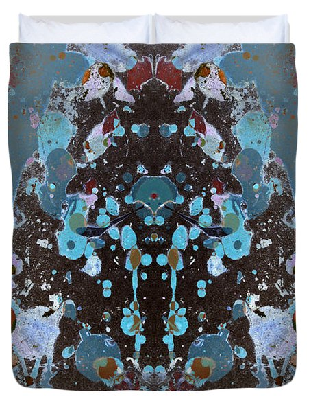 Color Abstraction No. 4 Duvet Cover by David Gordon