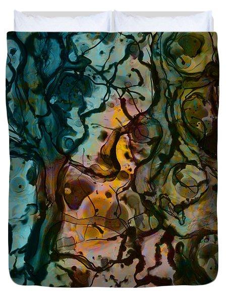 Color Abstraction XVI Duvet Cover by David Gordon