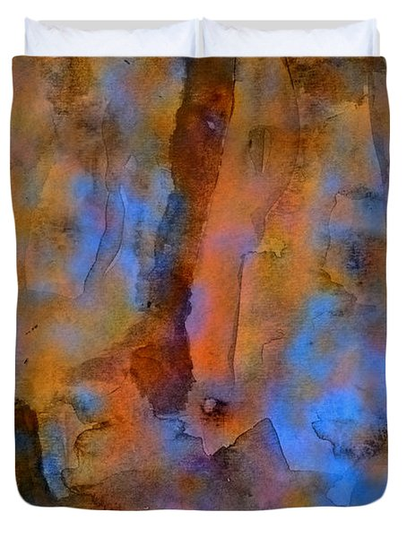 Color Abstraction XVIII Duvet Cover by David Gordon