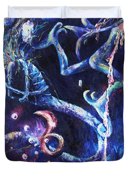 Color Creation Myth Duvet Cover by Shelley  Irish