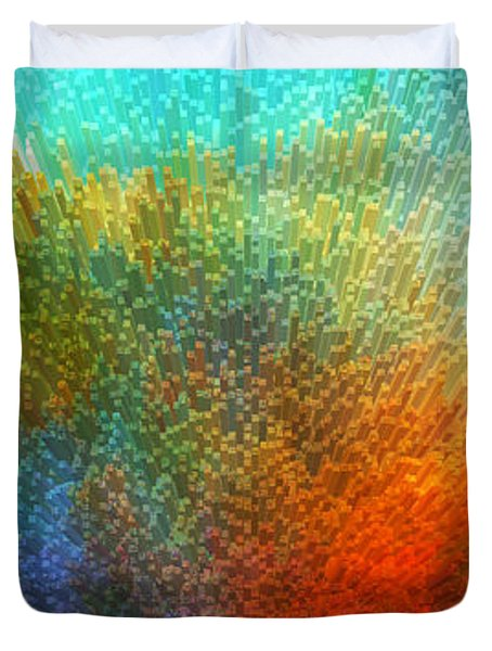 Color Infinity - Abstract Art By Sharon Cummings Duvet Cover by Sharon Cummings