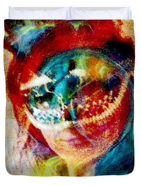 Color Mask Duvet Cover by Linda Sannuti