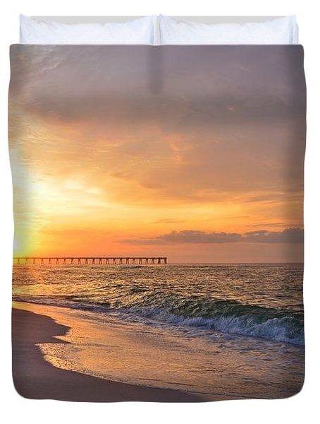 Color Palette Of God On The Beach Duvet Cover by Jeff at JSJ Photography