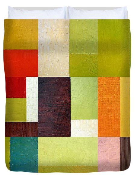 Color Study Abstract 10.0 Duvet Cover by Michelle Calkins